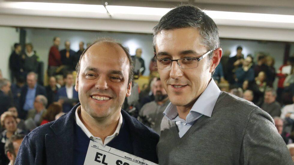 José Carlos Díez y Eduardo Madina, responsables de la ponencia económica y política del PSOE.