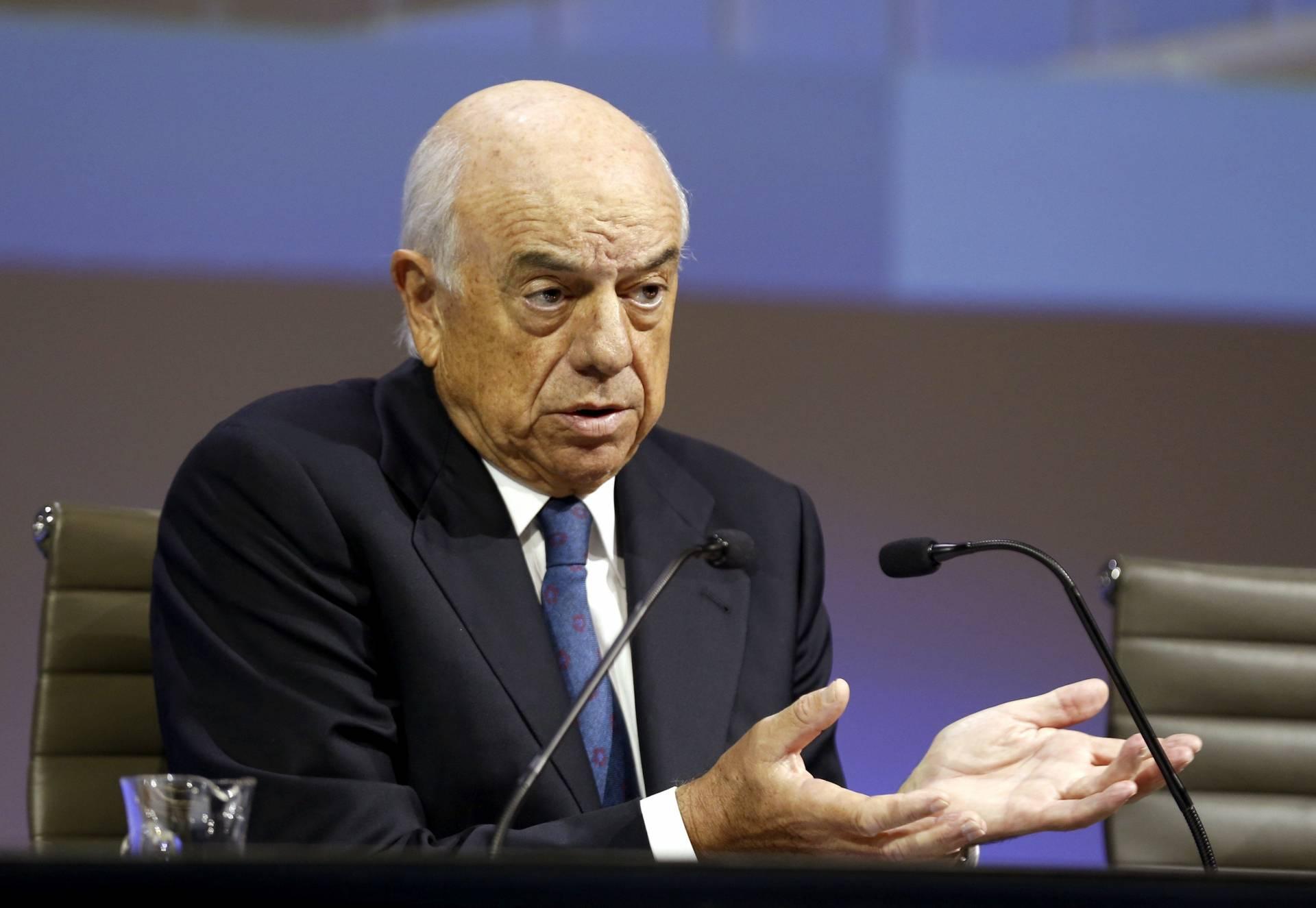 Francisco González, presidente de BBVA, durante el acto de presentación de resultados.