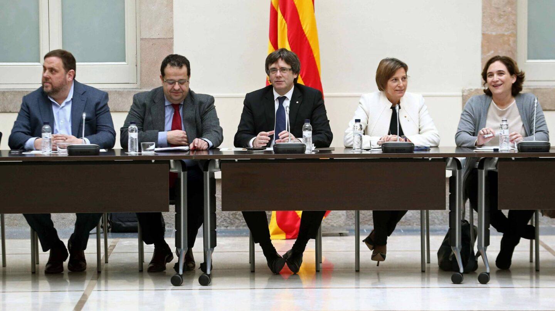 Mesa del Pacto Nacional por el Referéndum, reunido este miércoles.