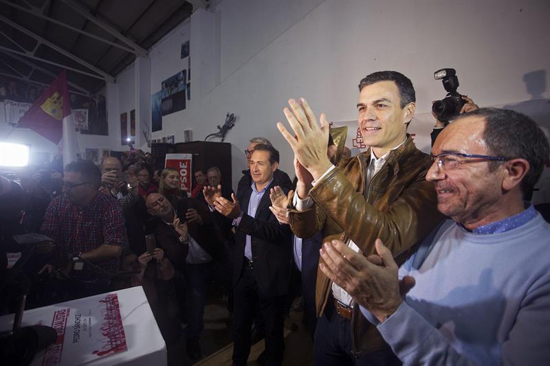 Pedro Sánchez, durante el acto en Castellón.