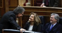 Joan Tardà, Fátima Báñez e Íñigo Méndez de Vigo.