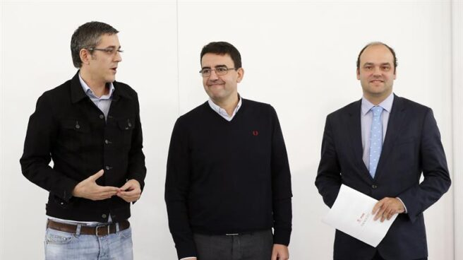 Eduardo Madina, Mario JIménez y José Carlos Díez.