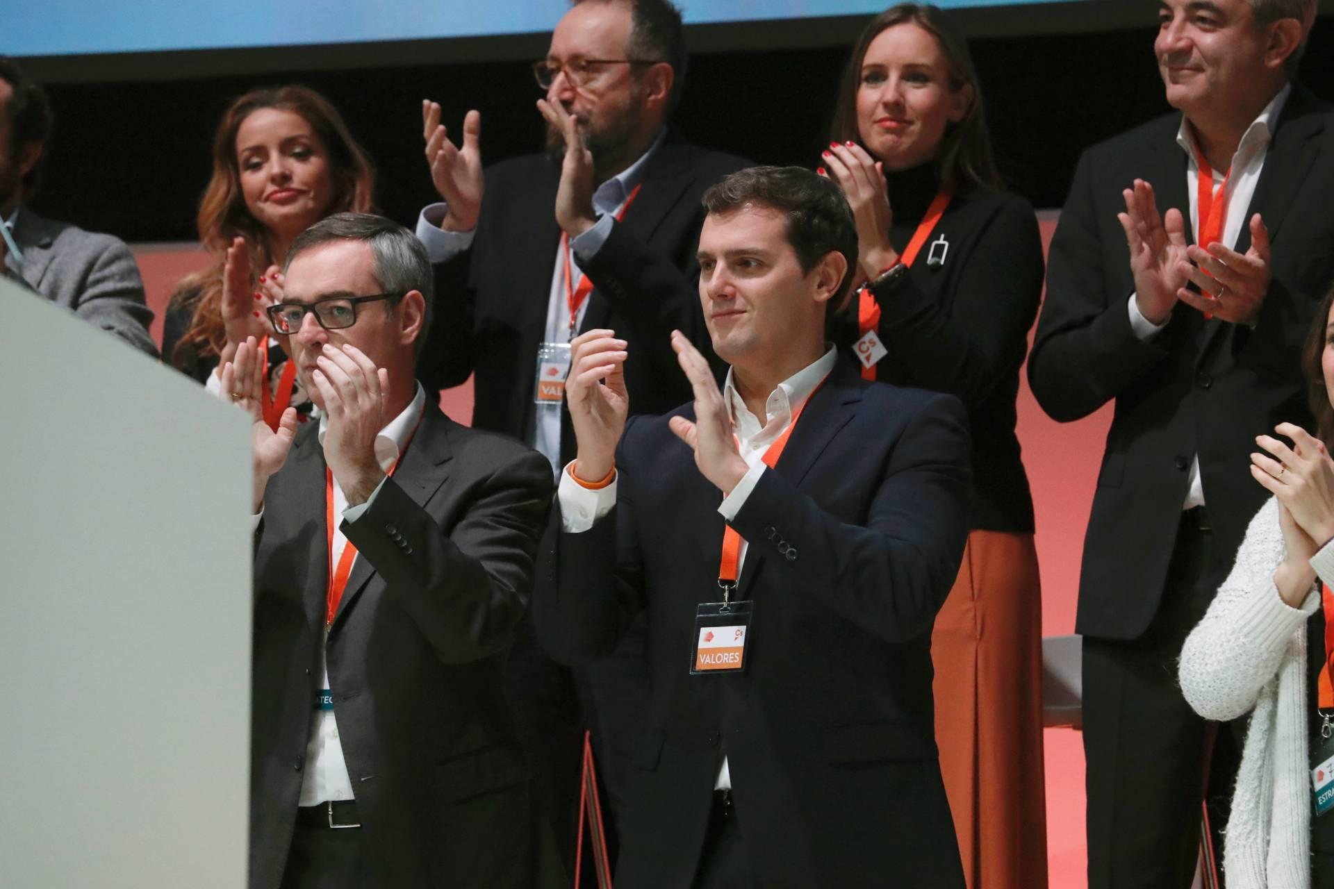 Albert Rivera, durante la clausura de la IV Asamblea General de Ciudadanos.