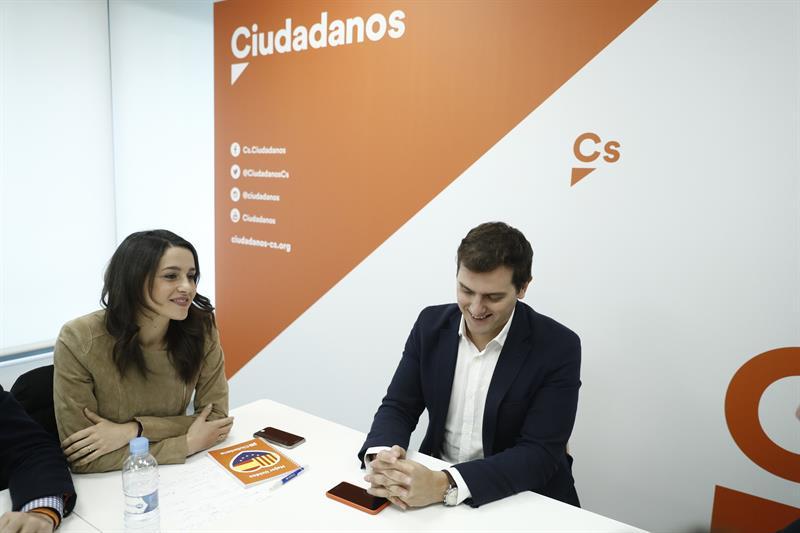 Inés Arrimadas y Albert Rivera, en la ejecutiva de Ciudadanos.