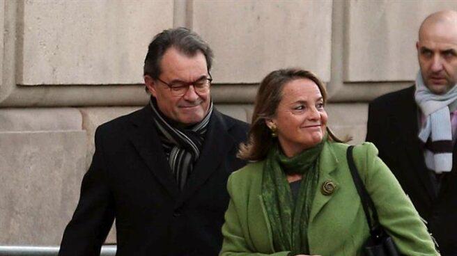 Artur Mas, a su entrada en los juzgados.