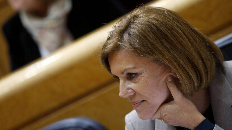 María Dolores de Cospedal, esta semana en el Senado