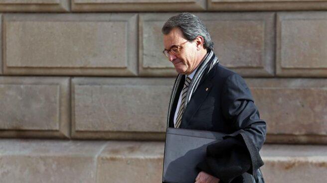 Artur Mas, a su salida de los juzgados.
