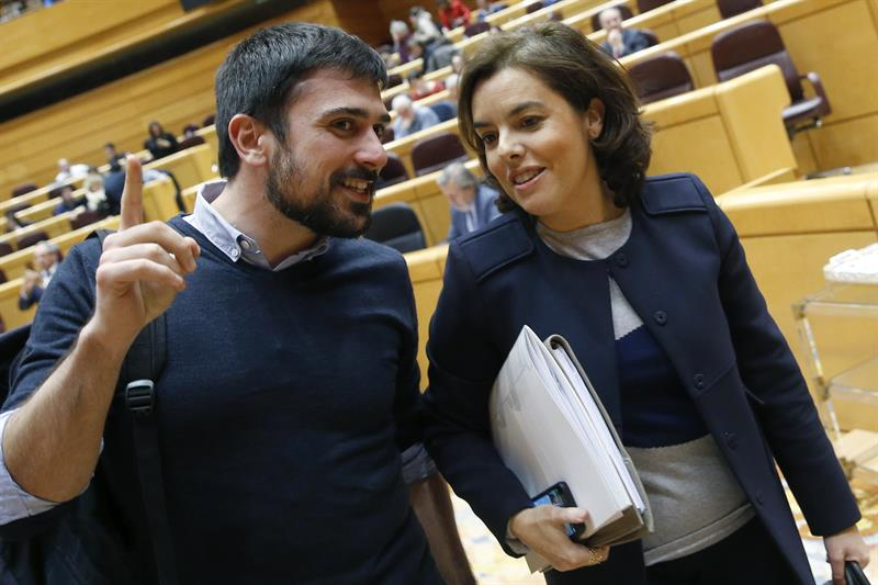 Ramón Espinar y Soraya Sáenz de Santamaría.