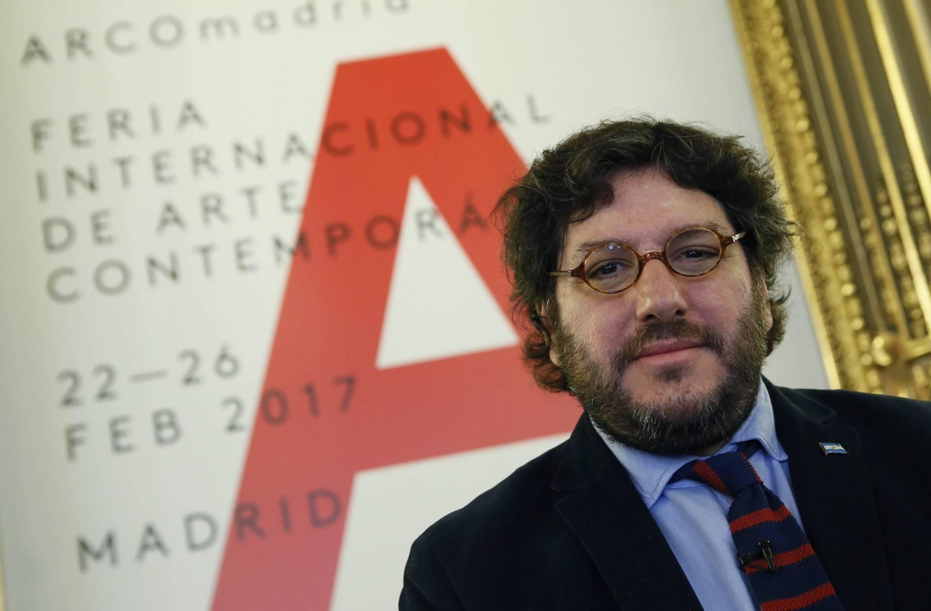 El ministro de Cultura argentino, Pablo Avelluto, durante la presentación de la XXXVI edición de la feria de arte contemporáneo ARCOMadrid.