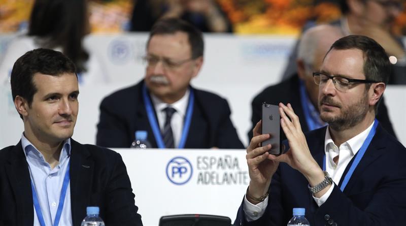 Los vicesecretarios del PP Pablo Casado y Javier Maroto.