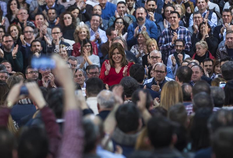 Susana Díaz, durante el acto en Madrid.