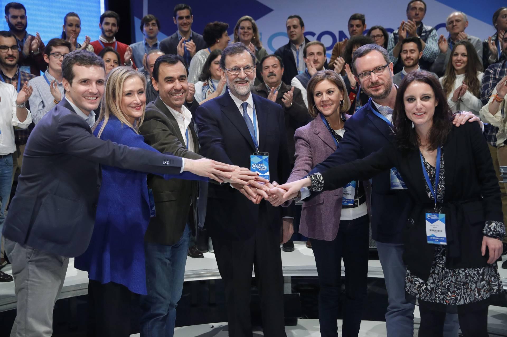 Rajoy y Cospedal con el Comité de Dirección del PP