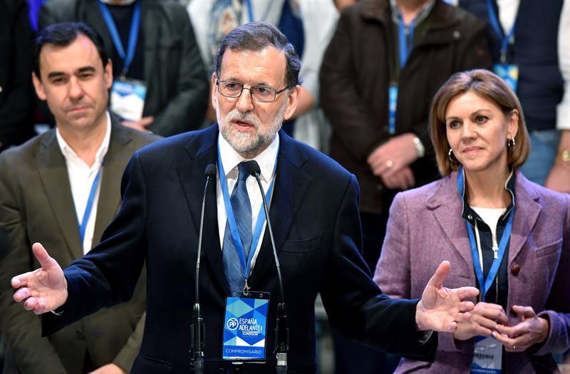 Fernando Martínez Maillo, Mariano Rajoy y María Dolores de Cospedal.