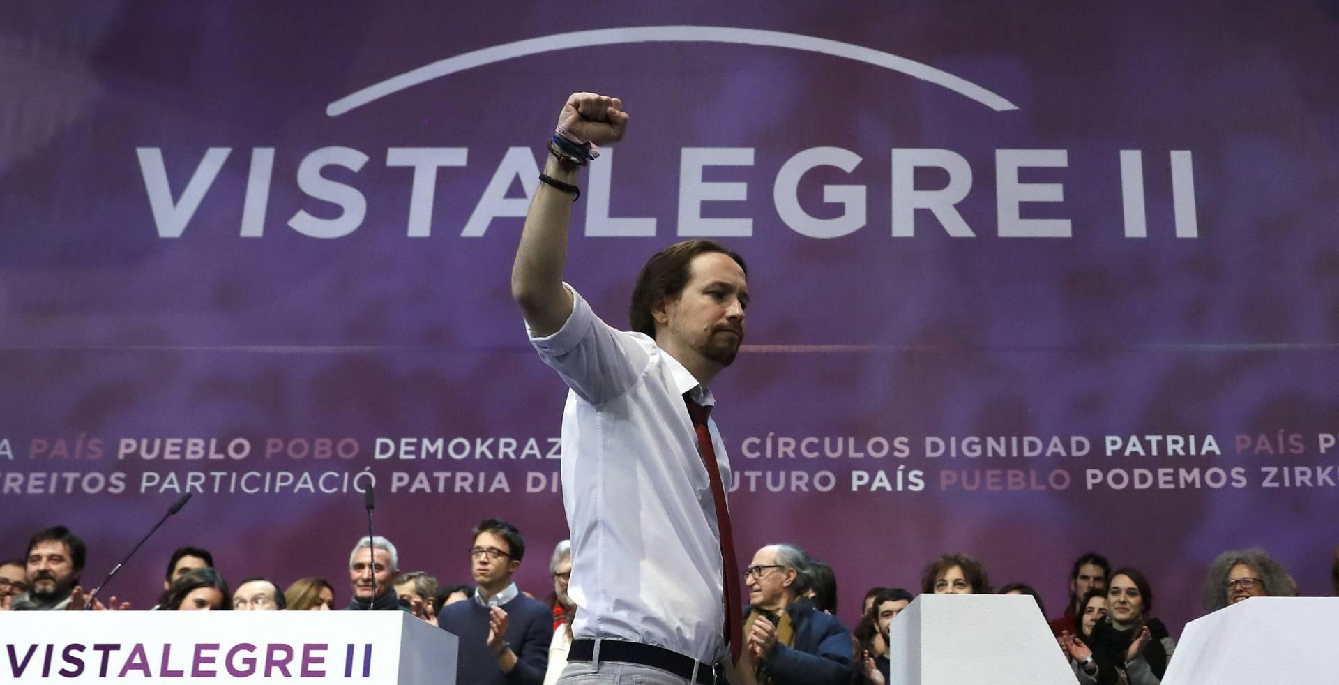 Pablo Iglesias, triunfador en Vistalegre II.