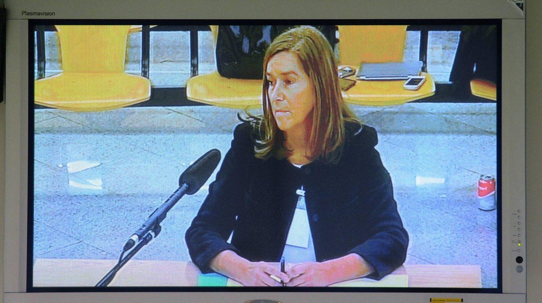 Ana Mato, durante su declaración en la Audiencia Nacional en el juicio de Gürtel.