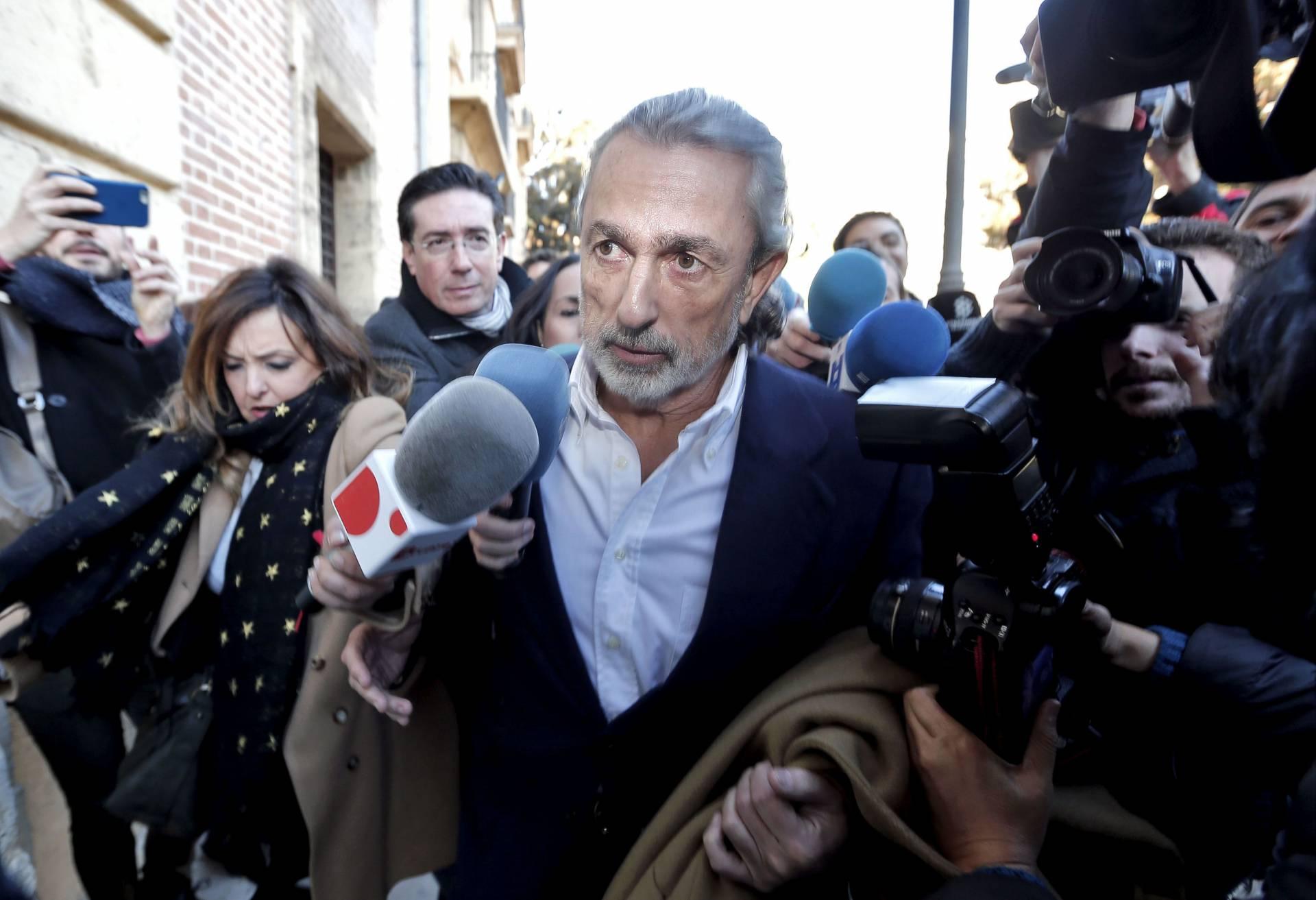 Francisco Correa, en el Tribunal Superior de Valencia