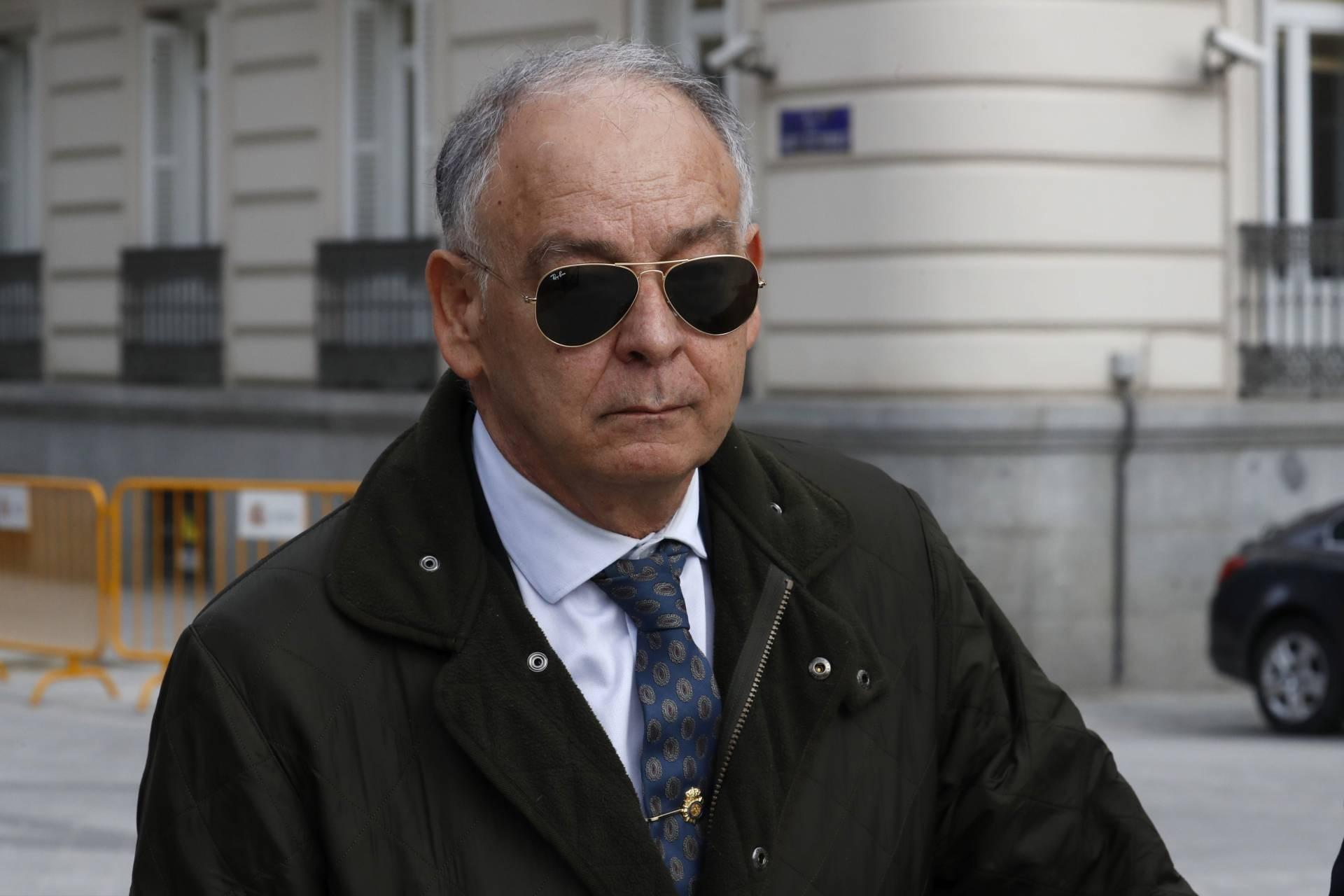 El ex DAO Eugenio Pino, tras declarar como testigo en la Audiencia Nacional ante el juez De la Mata.