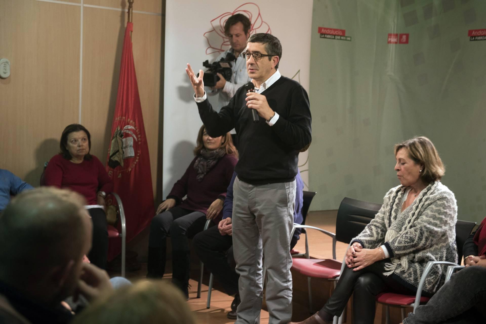 El candidato a la secretaría general, Patxi López.