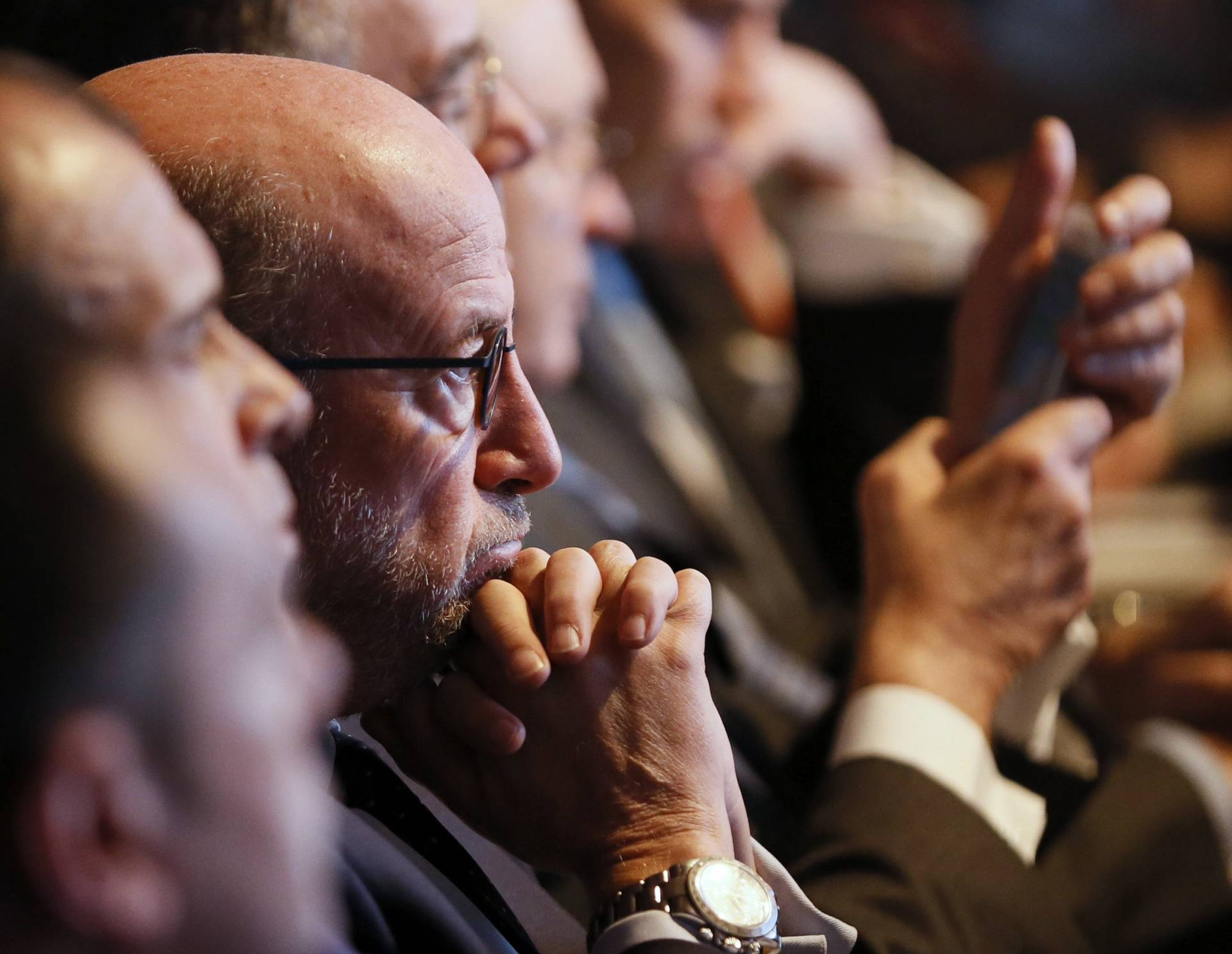 El presidente de Banco Popular, Emilio Saracho, durante la junta de accionistas de la entidad.