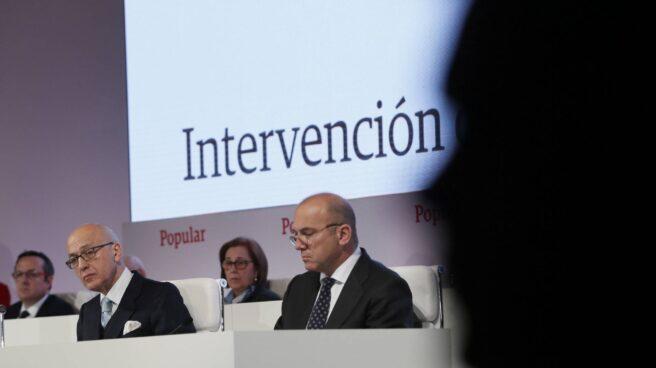 La junta de accionistas del Banco Popular, celebrada en Madrid.