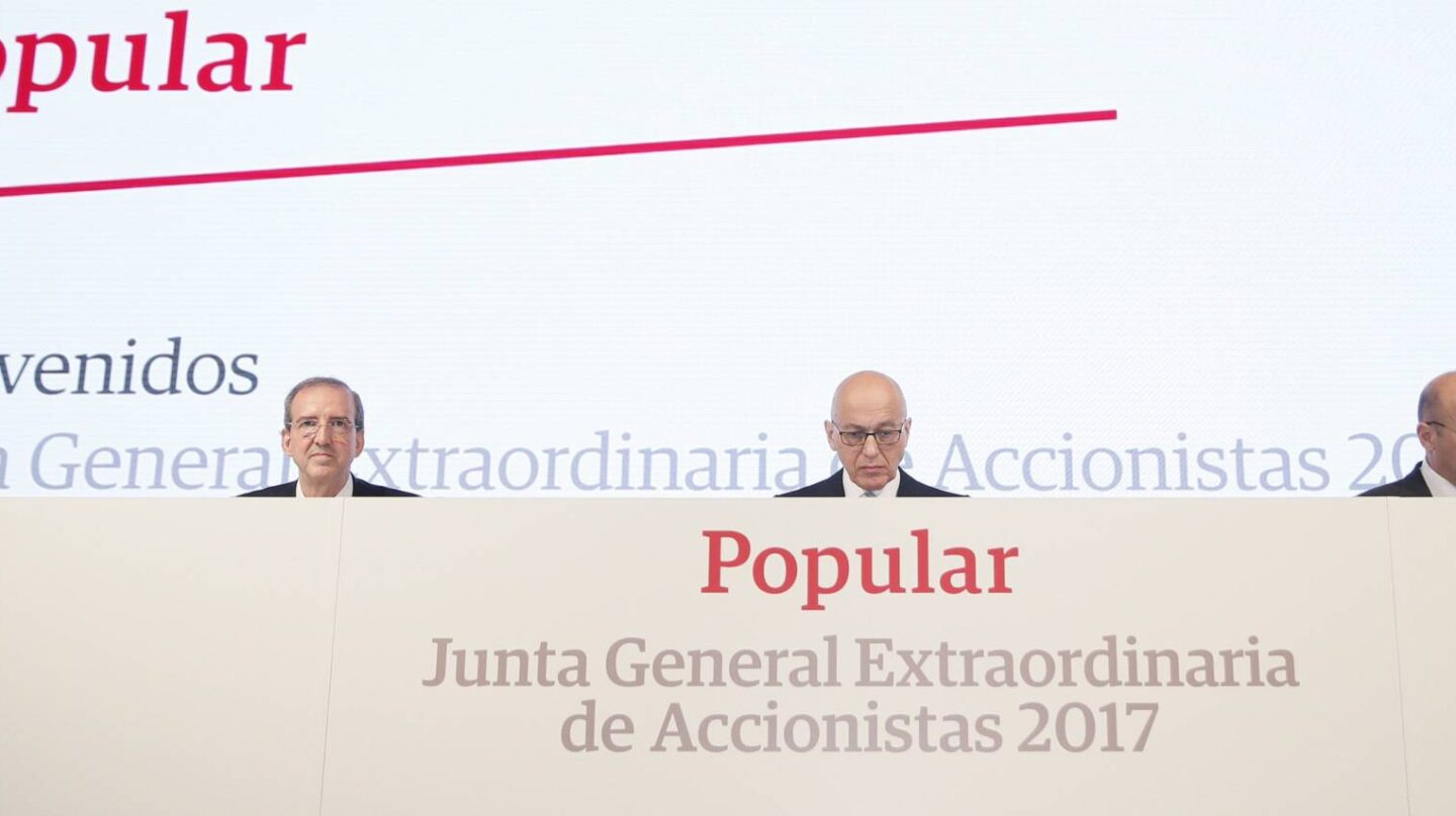 Junta de accionistas del Banco Popular.