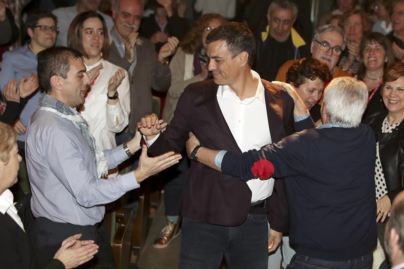 Pedro Sánchez, durante su presentación en Madrid.