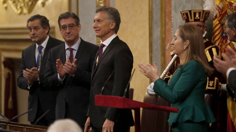 El presidente de Argentina, Mauricio Macri, en el Congreso.