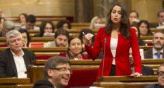 Carles Puigdemont e Inés Arrimadas.