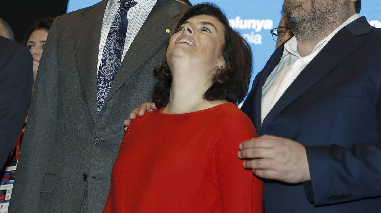 El Rey, Soraya Sáenz de Santamaría y Oriol Junqueras