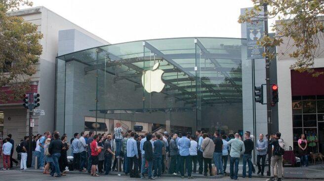 La fachada de la Apple Store de Palo Alto, en California.