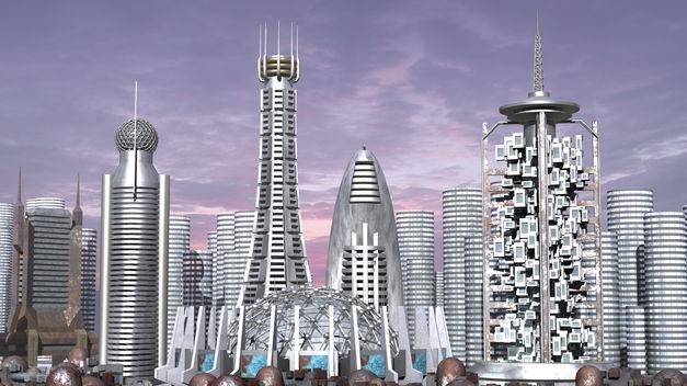 Representación de cómo podría ser Barcelona en un futuro como ciudad conectada.
