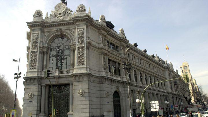 Fachada de la sede del Banco de España, en Madrid.
