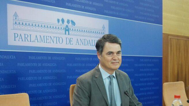 El diputado del PP, Carlos Rojas, durante la comparecencia.