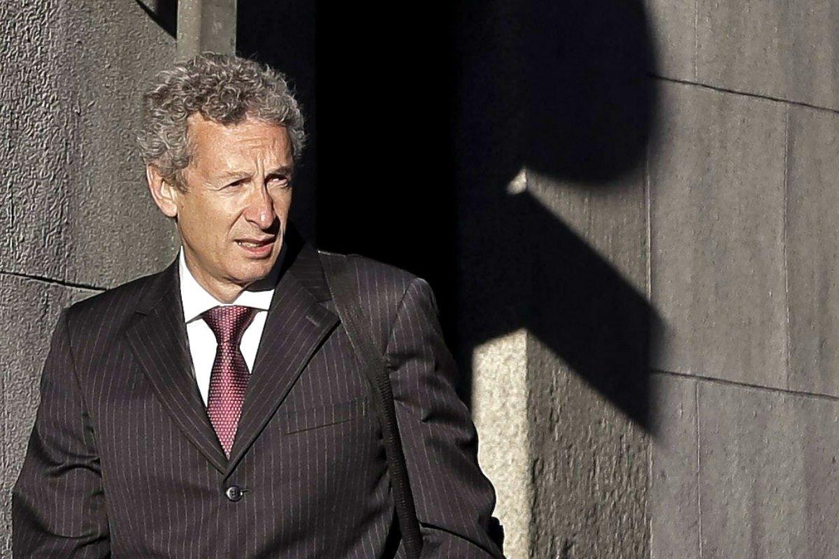 El juez José de la Mata. a las puertas de la Audiencia Nacional.