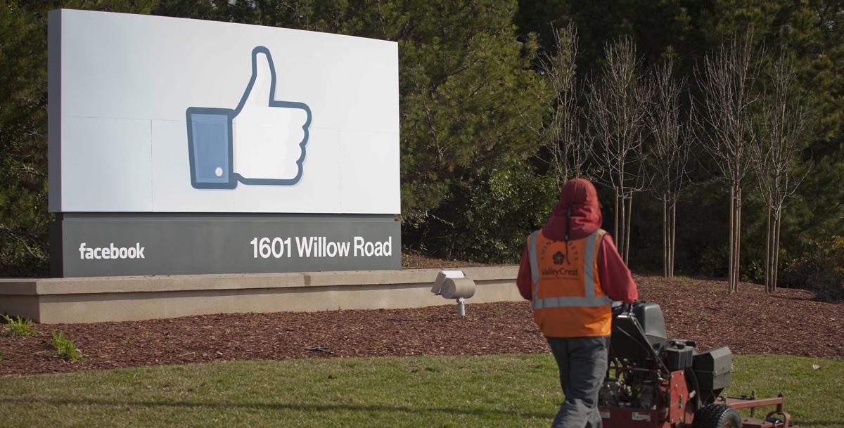 Entrada a la sede de Facebook en Menlo Park, al sur de la ciudad de San Francisco.
