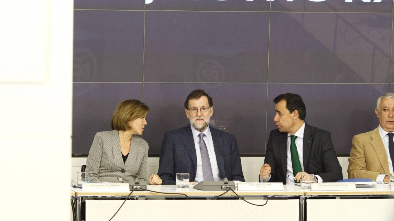 Cospedal, Rajoy, Maíllo y Arenas en la última ejecutiva popular