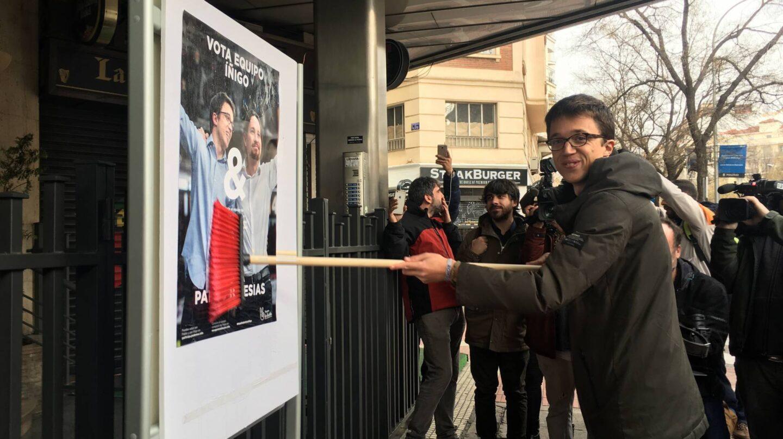 Íñigo Errejón, en el acto de presentación de su candidatura en Madrid.