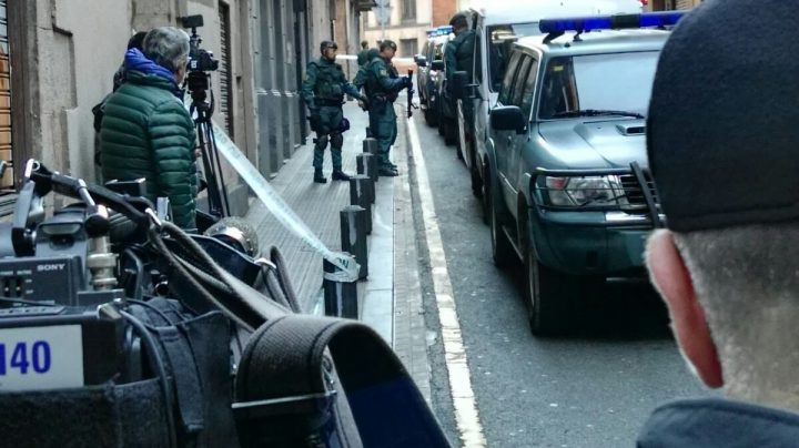 Operativo policial de la Guardia Civil en Bilbao,