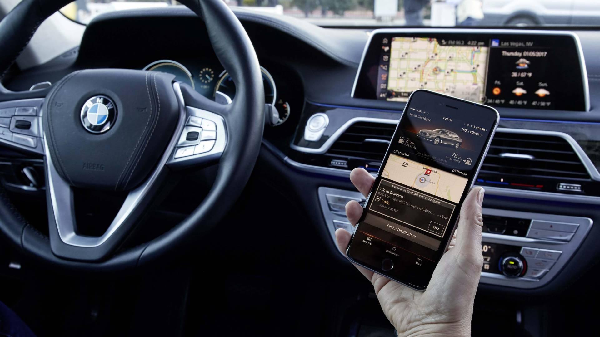 Coche de BMW con 5G