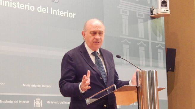 Jorge Fernández Díaz, en una comparecencia durante su etapa como ministro del Interior.