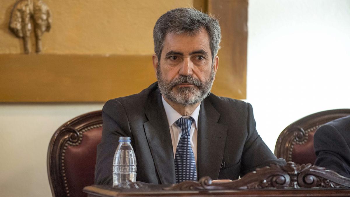 El presidente del Consejo General del Poder Judicial, Carlos Lesmes.