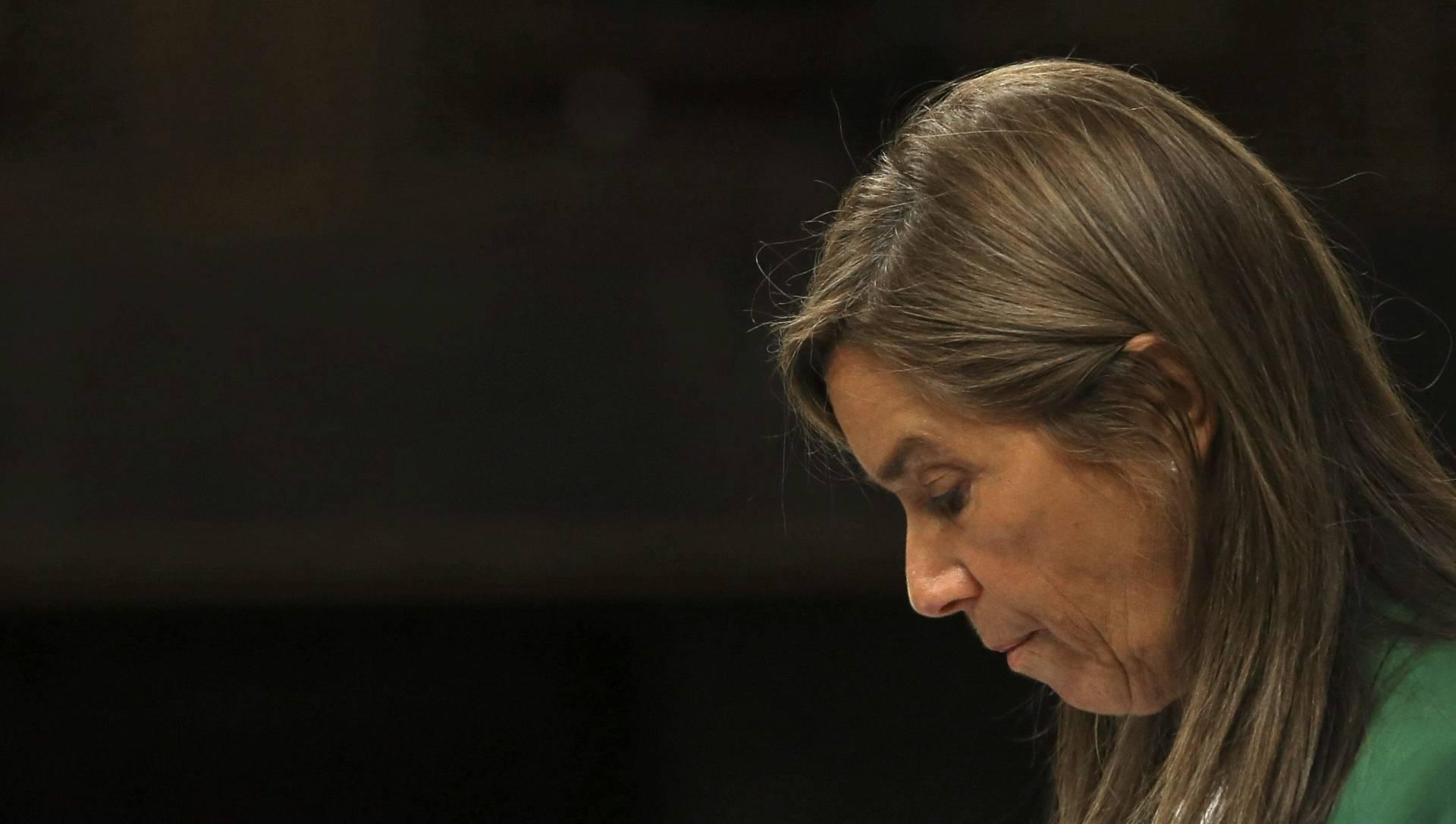 La ex ministra de Sanidad, Ana Mato, con gesto serio.