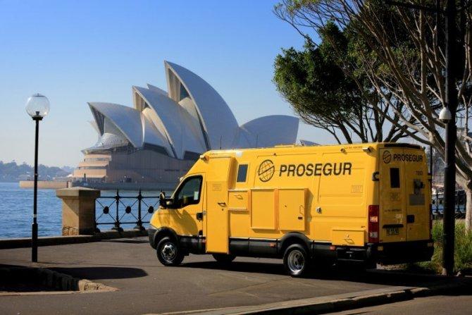 Camión blindado de Prosegur.