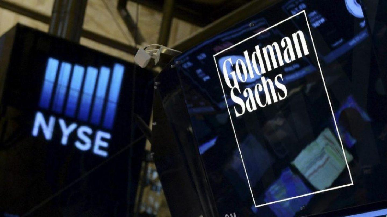 Logo de Goldman Sachs en la bolsa de Nueva York.