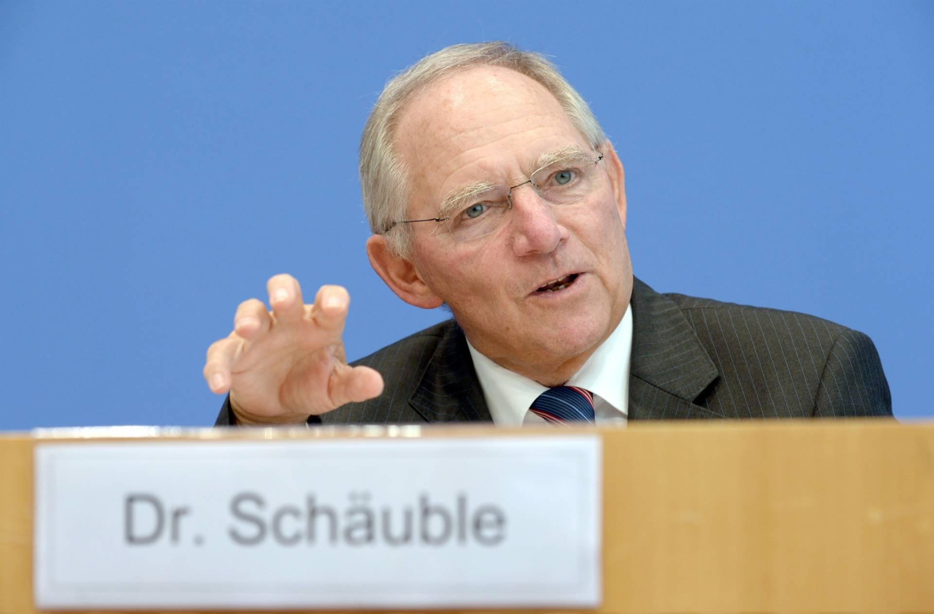 Wolfgang Schauble, ministro de Finanzas de Alemania.