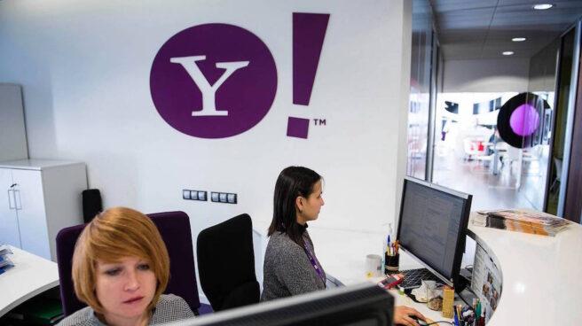 Entrada de una de las oficinas de Yahoo.