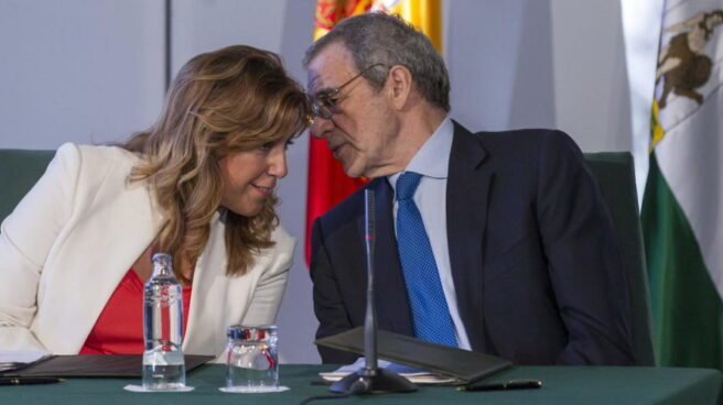 Susana Díaz y César Alierta.