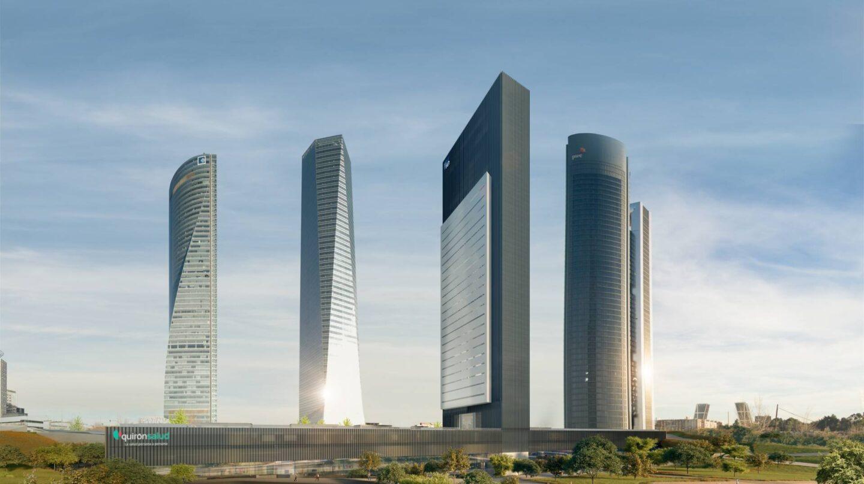 Recreación del quinto rascacielos del Paseo de la Castellana.