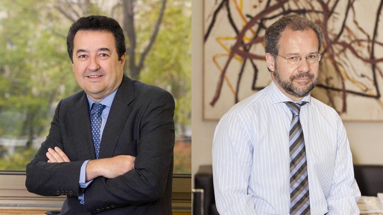 Mariano Herrera, director general de Supervisión, y Pedro Comín, director general adjunto de Supervisión del Banco de España.