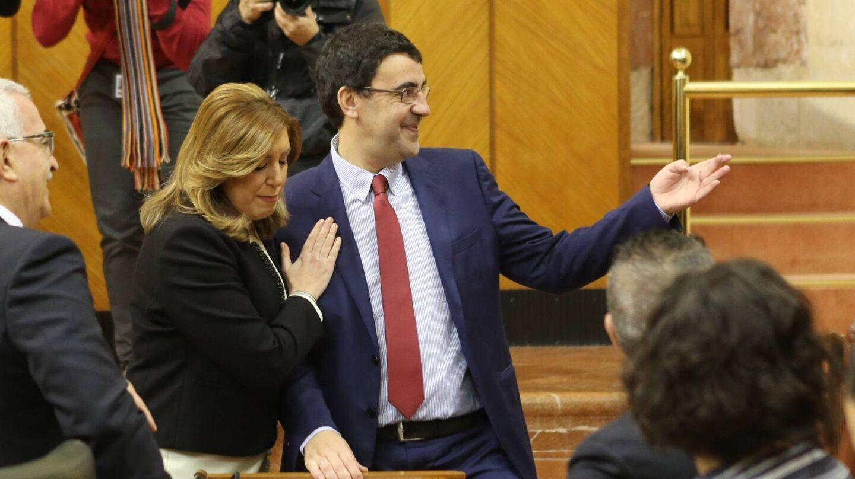 Susana Díaz, junto a Mario Jiménez el Día de Andalucía.